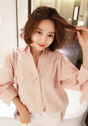 Tie Sleeve Loose Fit Shirt