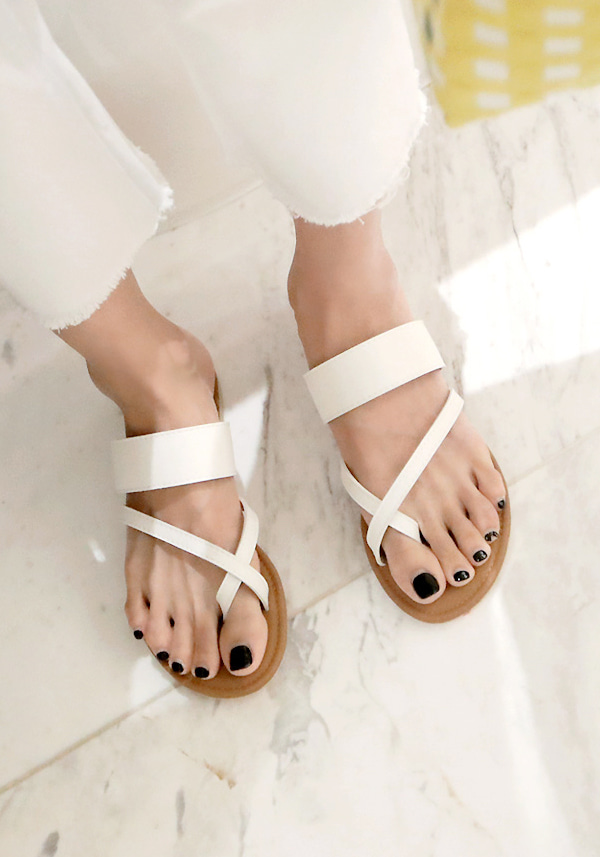Cross Strap Flat Sole Sandals